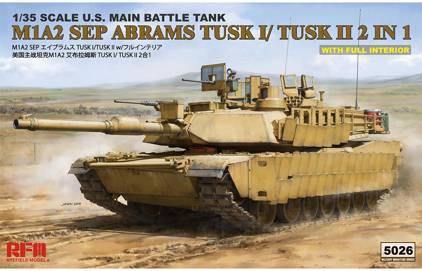 RM-5026 M1A2 SEP ABRAMS TUSK I/TUSK II  2 IN 1