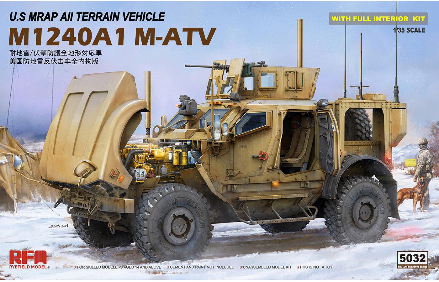 RM-5032 M1240A1 M-ATV 美国防地雷反伏击车全内构版