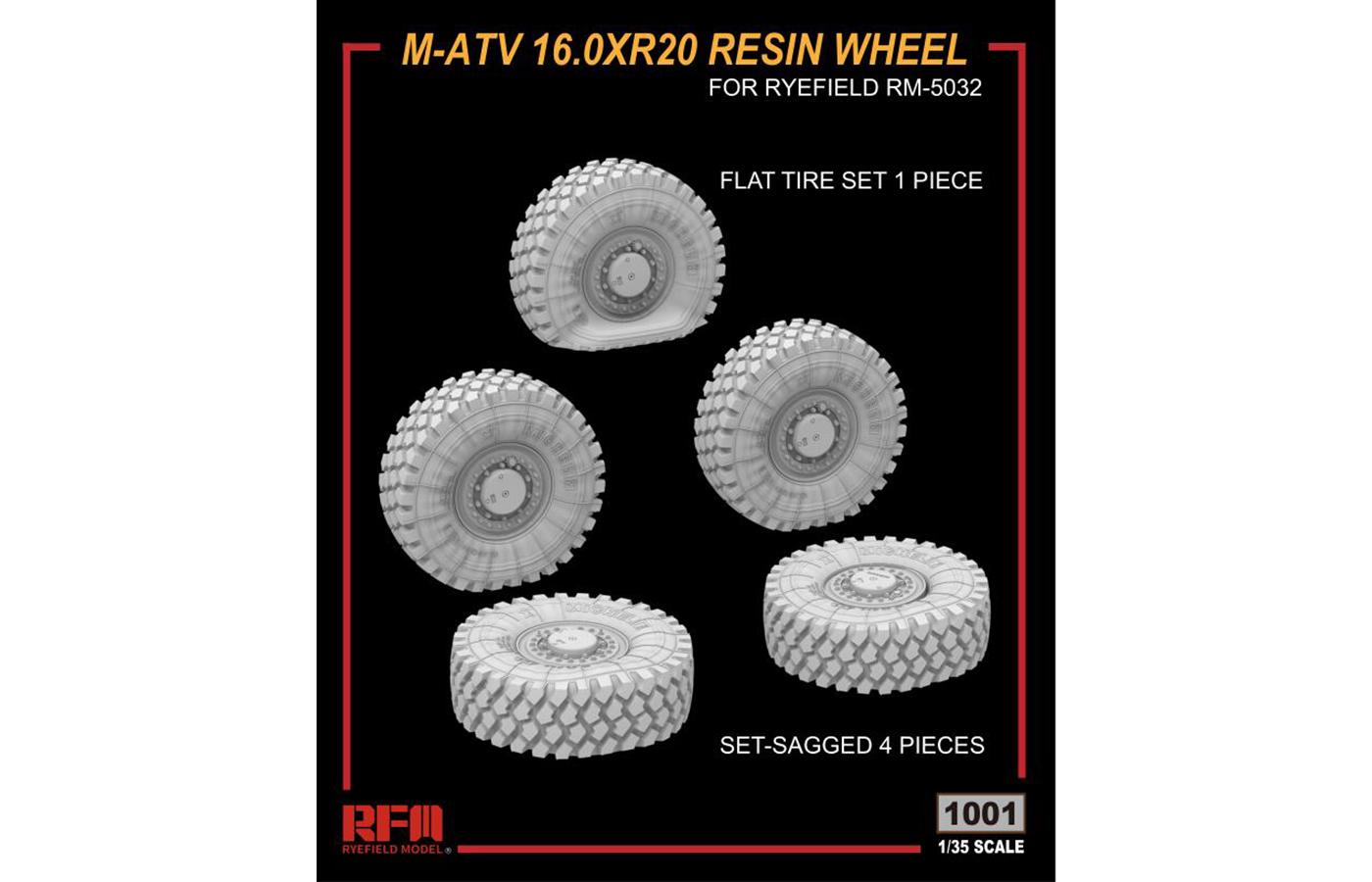 RM-1001 M-ATV 16.0*R20 树脂重力轮胎