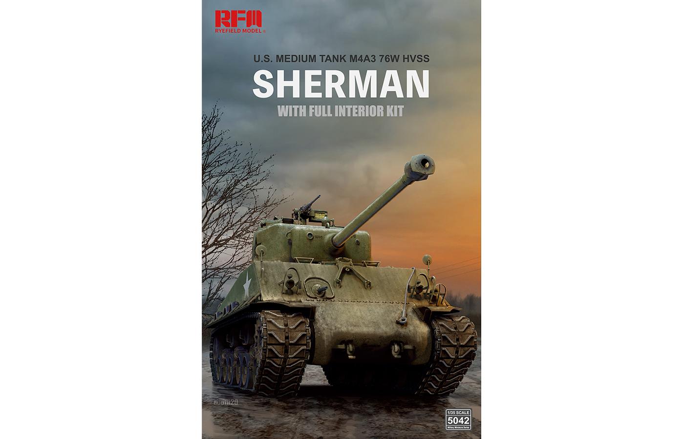 RM-5042 M4A3E8 谢尔曼中型坦克(全内构版)