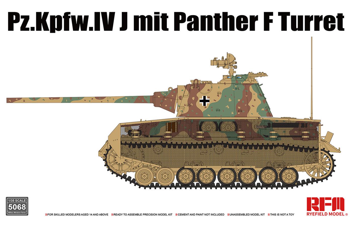 RM-5068  使用黑豹F炮塔的四号J型坦克